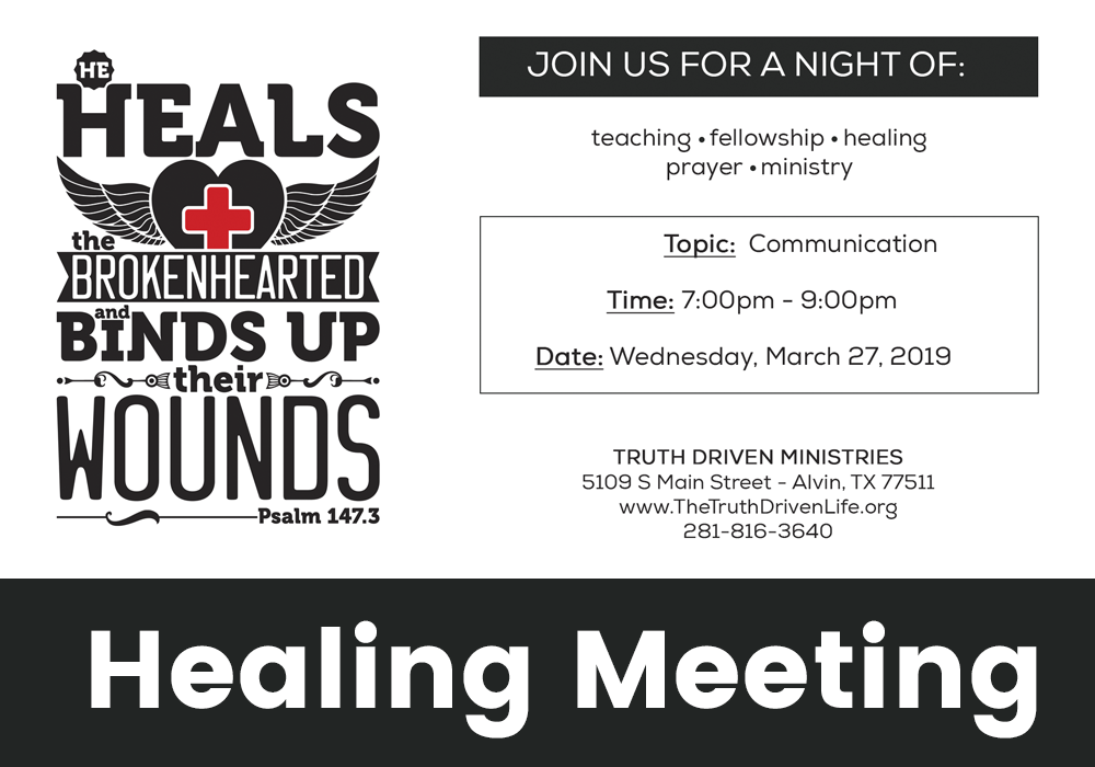 March Healing Meeting – Communication