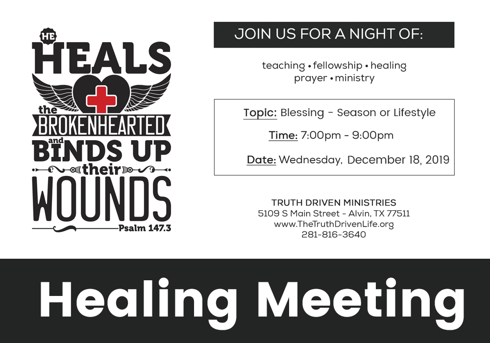 December Healing Meeting – Blessing