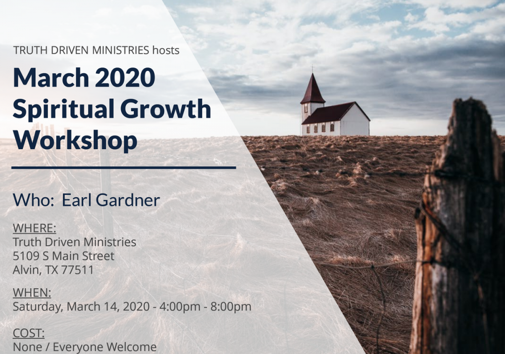 March 2020 Spiritual Growth Workshop