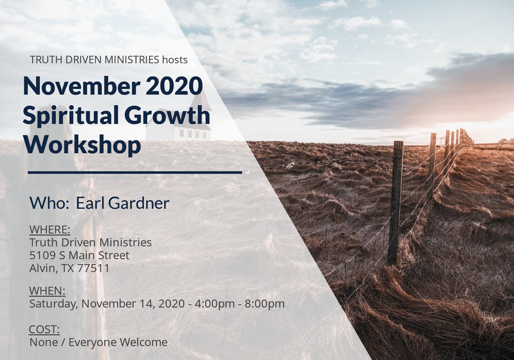 November 2020 Spiritual Growth Workshop